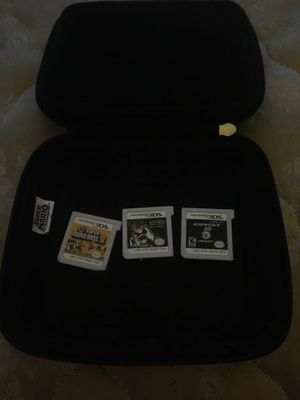 Super Mario 3ds XL case that also carry's 6 games for Sale in Rancho Cucamonga, CA