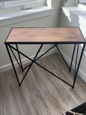 Wood & Metal Small Table for Sale in Seattle, WA