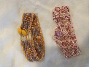 Set of two handmade beaded bracelets. for Sale in Arlington, VA