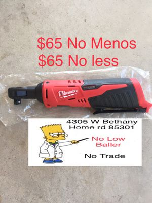 "Milwaukee M12 Cordless 3/8"" Ratchet 2457-20 (tool only) NEW ($65 Firm No Menos) for Sale in Glendale, AZ"