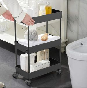 Moveable 3 Tier Storage Cart Rolling Utility Cart for Bathroom, Kitchen for Sale in Los Angeles, CA