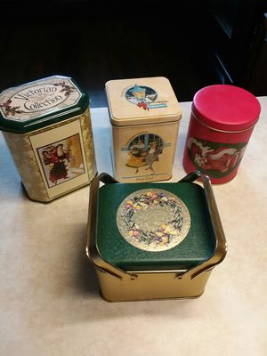4 Holiday Tins for Sale in Cochranville, PA