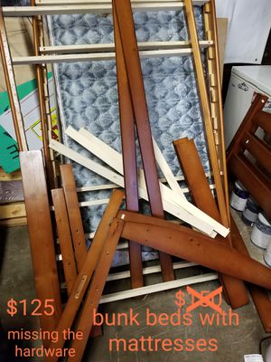 Bunked with mattresses for Sale in Chillicothe, IL