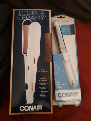 Brand new unopened conair hair straightener and curling iron for Sale in Tucson, AZ