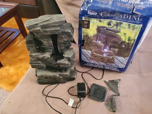 Alpine Cascading Tiered Rock Water Fountain with LED Lights 13'' for Sale in Palmdale, CA
