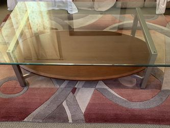 Ethan Allen Glass Coffee Table And 2 End Tables for Sale in Las Vegas,  NV