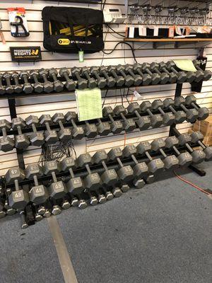 New hex dumbbells 1.10 per lb for Sale in Renton, WA