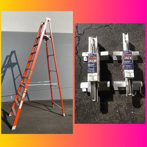 New !!! 10' Platform Step ladder / Ladder Jacks Set for Sale in La Puente, CA