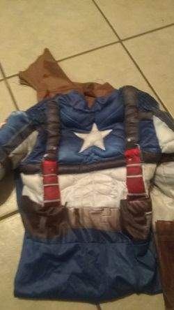 Captain America Halloween costume with padding for Sale in Modesto,  CA