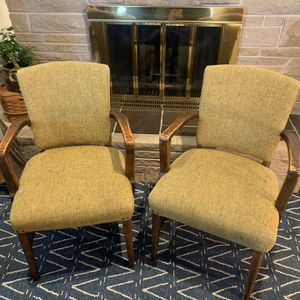 Pair Of Vintage Solid Walnut Armed Chairs! for Sale in Tacoma, WA