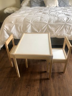 Ikea kids table for toddlers with 2 chairs for Sale in San Bernardino, CA