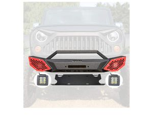 JROAD Compatible with Front Bumper Jeep Wrangler 07-18 JK JKU Sahara Rubicon Sports 2/4-door 2xLED Fog Lights Built-in Winch Plate for Sale in Las Vegas, NV