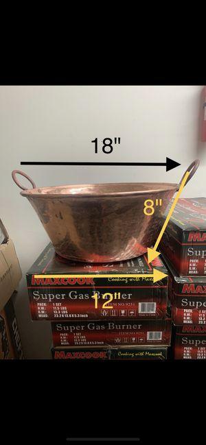 Cobre 💯% mexica con vase soldada i quemador nuevo en caja para carnitas🐖 for Sale in Paramount, CA