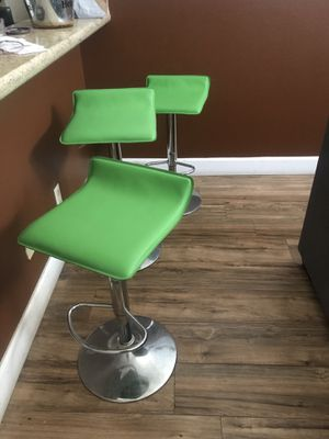 set of 3 bar stools ( lime green) for Sale in Los Angeles, CA