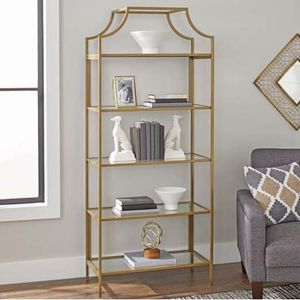 """Better Homes & Gardens 71"""" Nola 5-Tier Etagere Bookcase, Gold Finish: Assembled Dimensions: 30"""" L x 14.5"""" W x 70.9"""" H Features five open shelves, per for Sale in TX, US"""