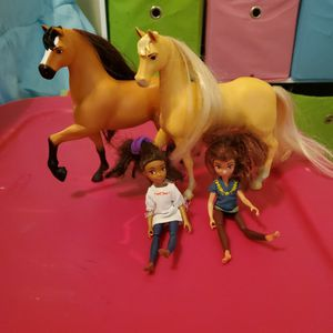 Spirit Riding Horses With Dolls for Sale in Centreville, VA