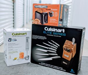 Cuisinart elite series hammered collection and hand blender (free toaster) for Sale in Houston, TX