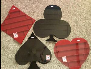 Set of Wall Mount Playing Card Holders - Retail $500 for Sale in Evansville, IN
