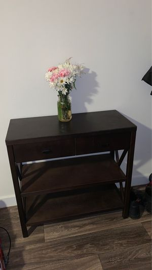 2 shelve table with drawers for Sale in Houston, TX