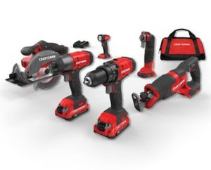 CRAFTSMAN V20 V 6-Tool 20-Volt Max Power Tool Combo for Sale in Katy, TX