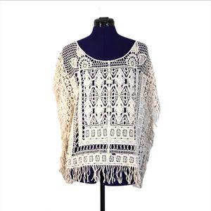 Cream White Crochet Fringe Top for Sale in Las Vegas, NV