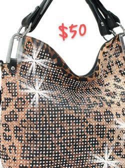 Leopard Print Bling Handbag/Tote for Sale in Florissant,  MO