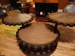 3-piece Sprocket Table Set (1 coffee and 2 and tables) for Sale in Mableton, GA