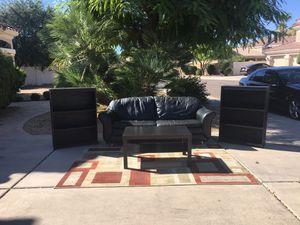 Nice living room set: sofa, bookshelves, and coffee table for Sale in Chandler, AZ