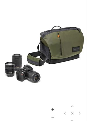 Manfrotto Street Large Messenger Camera Bag for DSLR CSC Special Edition, Green/Gray for Sale in Portland, OR