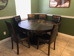 Antique Wood and Stone Table and Chairs (6) for Sale in Dunedin, FL