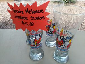 Collectable Spuds McKenzie glasses for Sale in Queen Creek, AZ
