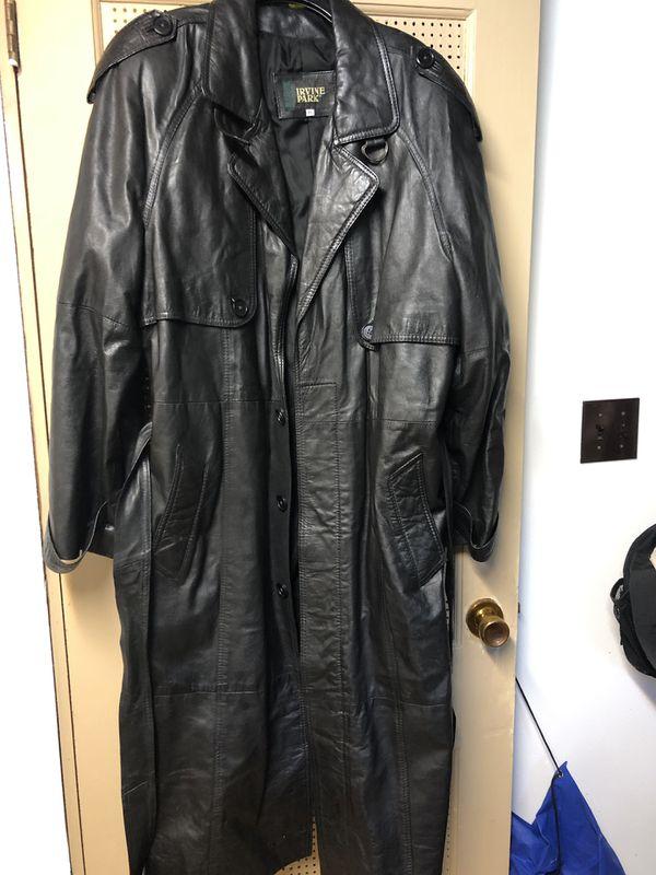 Irvine Park full length XL Leather jacket
