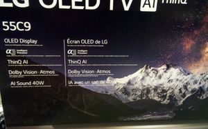 LG 55INCH 55C9 OLED SMART TV AI SOUND DOLBY. VISION, INTELLIGENT PROCESSOR for Sale in Smyrna, TN