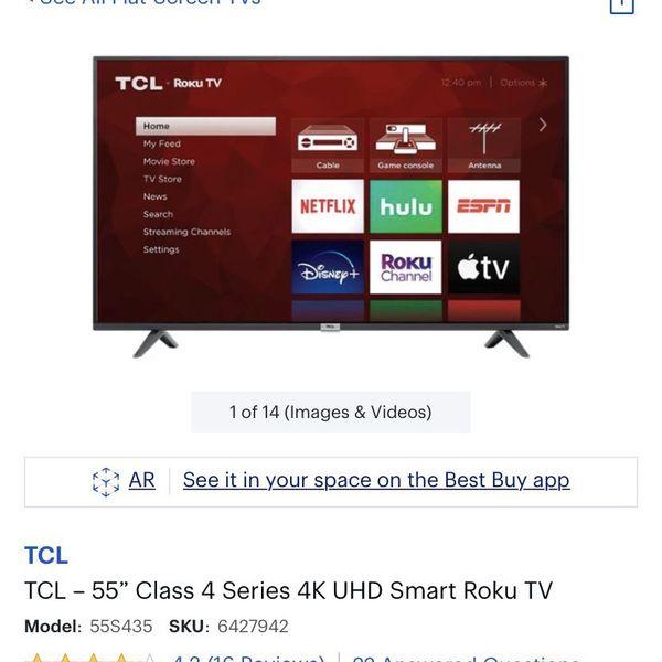TCL 55 Inch Roku Smart UNOPENED