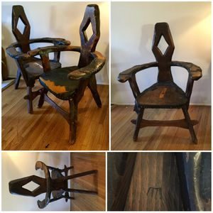 Carved Wooden Vintage Chairs Club Chairs for Sale in Los Angeles, CA