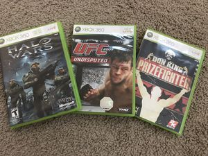 XBOX 360 games with cases for Sale for sale  Douglasville, GA
