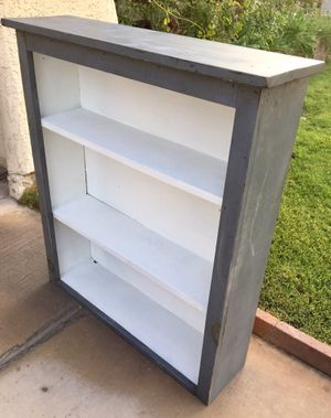 """Painted Blue/Gray and White 36"""" Tall Book Shelf -Washington and Tenaya for Sale in Las Vegas, NV"""