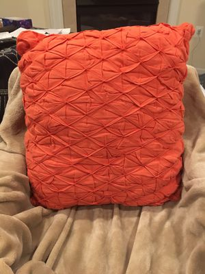 Orange Throw Pillow for Sale in Leesburg, VA