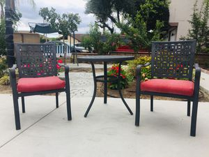 3 piece cast aluminum patio set(Including cushions),it is in good condition! for Sale in Cypress, CA