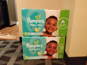 Pampers Baby-Dry size 5 for Sale in Renton, WA