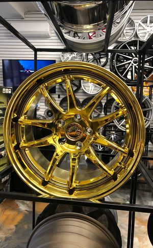 """Aodhan ds02 vacuum gold 18"""" wheels rims tires fit Honda Accord civic crv crosstour Pilot Acura tlx Tsx rsx tl ilx Nissan Maxima Altima Infiniti g35 g for Sale in Queens, NY"""