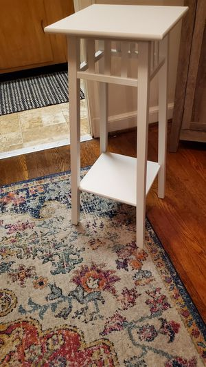 White plant stand for Sale in Bethesda, MD