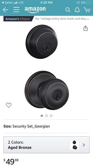 SCHLAGE door knob Georgian security set for Sale in Isla Vista, CA