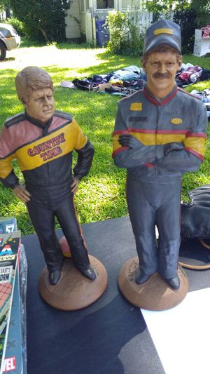 Rare Billy Hamilton and Davey Allison Nascar Resin Statues for Sale in Portsmouth, VA
