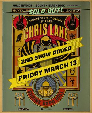 Chris Lake @ The Shrine for Sale in Industry, CA
