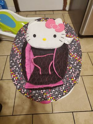babybouncer Baby Trend Hello Kitty Bouncer, Pinwheel... for Sale in Hartford, CT