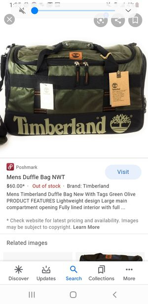 Timberland duffle bag for Sale in Vacaville, CA