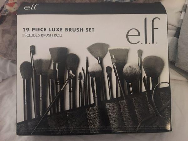 Elf 19 piece Luxe makeup brush set ($20 is the least)