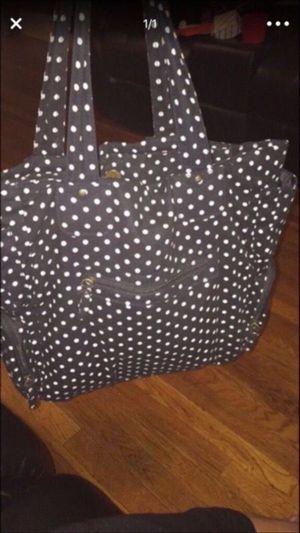 White and black polka-dot tote bag for Sale in Chelsea, MA