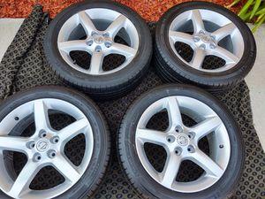 "17"" nissan wheels fits altima maxima infiniti with michelin tires... for Sale in Gardena, CA"